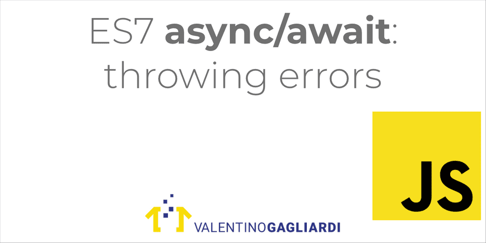 Throw Errors From Async Functions