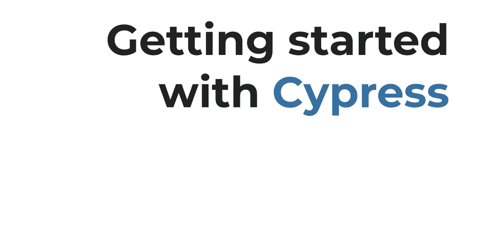 Cypress tutorial